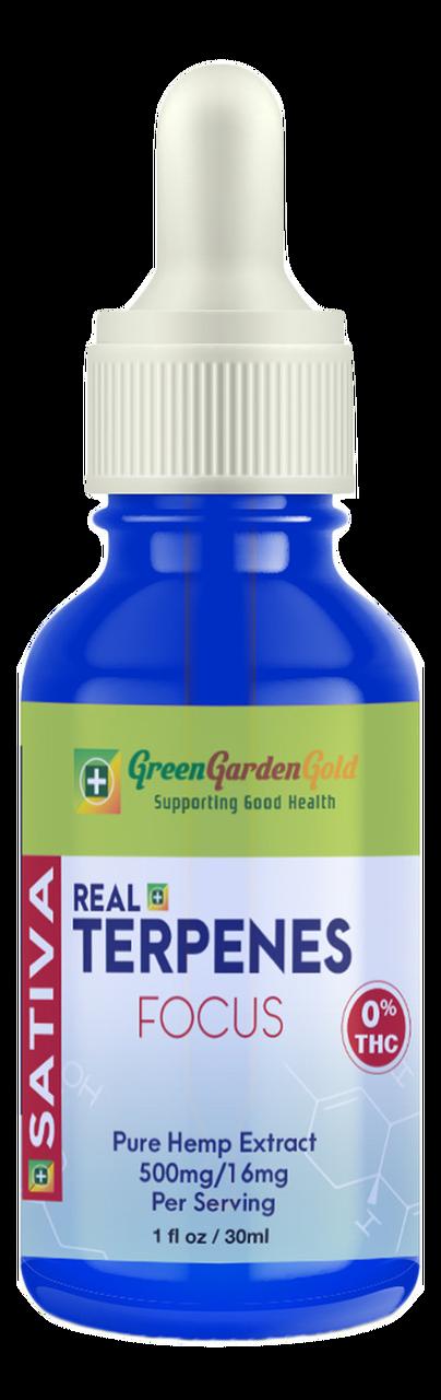 Green Garden Gold: Sativa CBD Tincture (500mg)