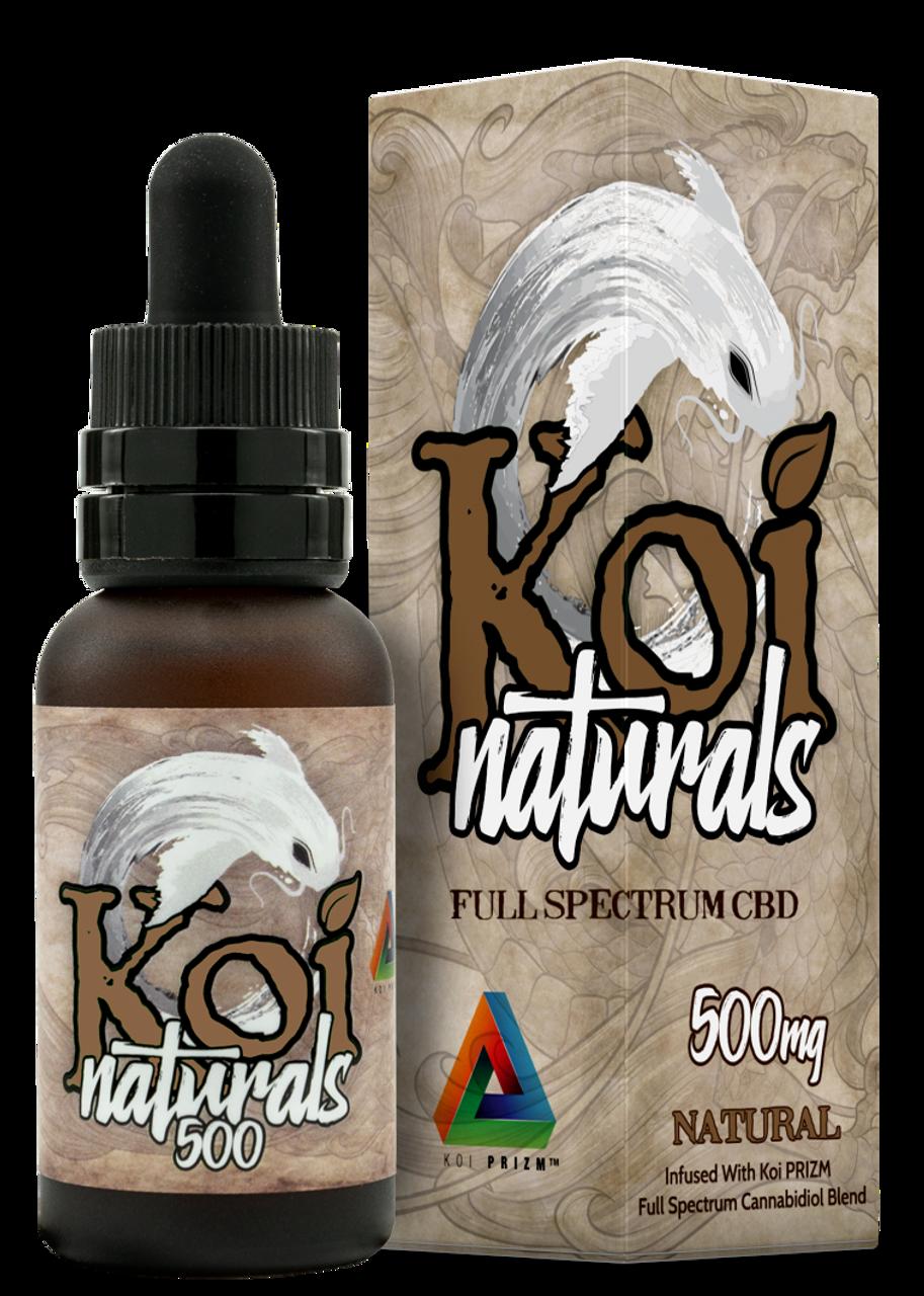Koi CBD Naturals: Natural Full Spectrum Tincture (500mg)