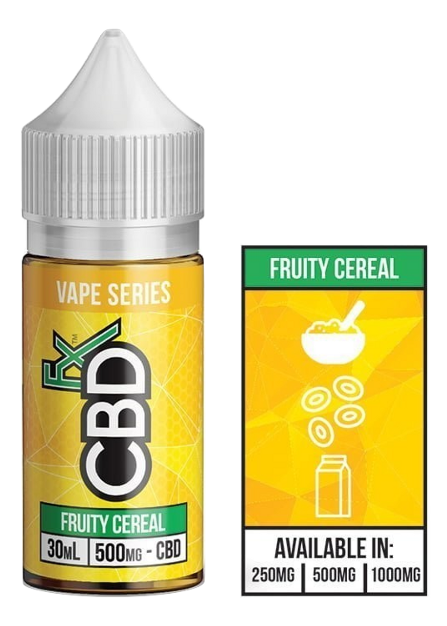 CBDFX: Fruity Cereal CBD Vape Juice (500mg)
