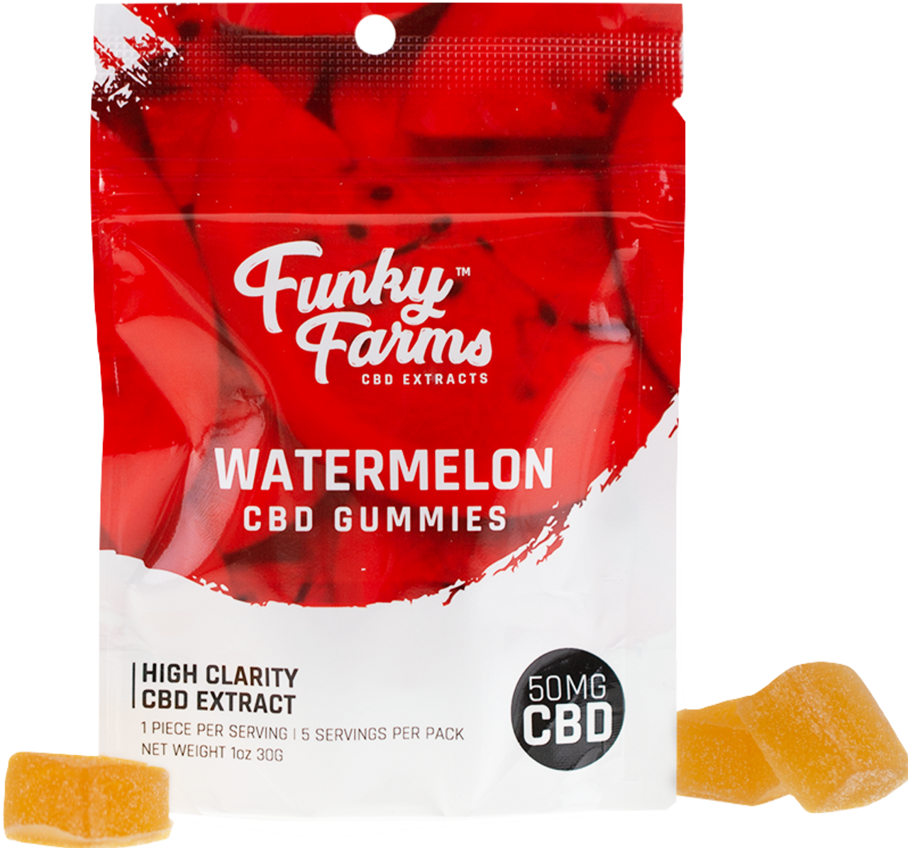 Funky Farms: Watermelon CBD Gummies (50mg)