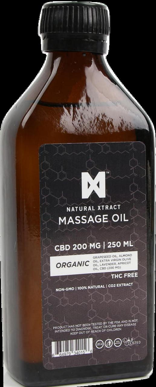 NaturalXtract: THC-Free CBD Massage Oil (200mg)
