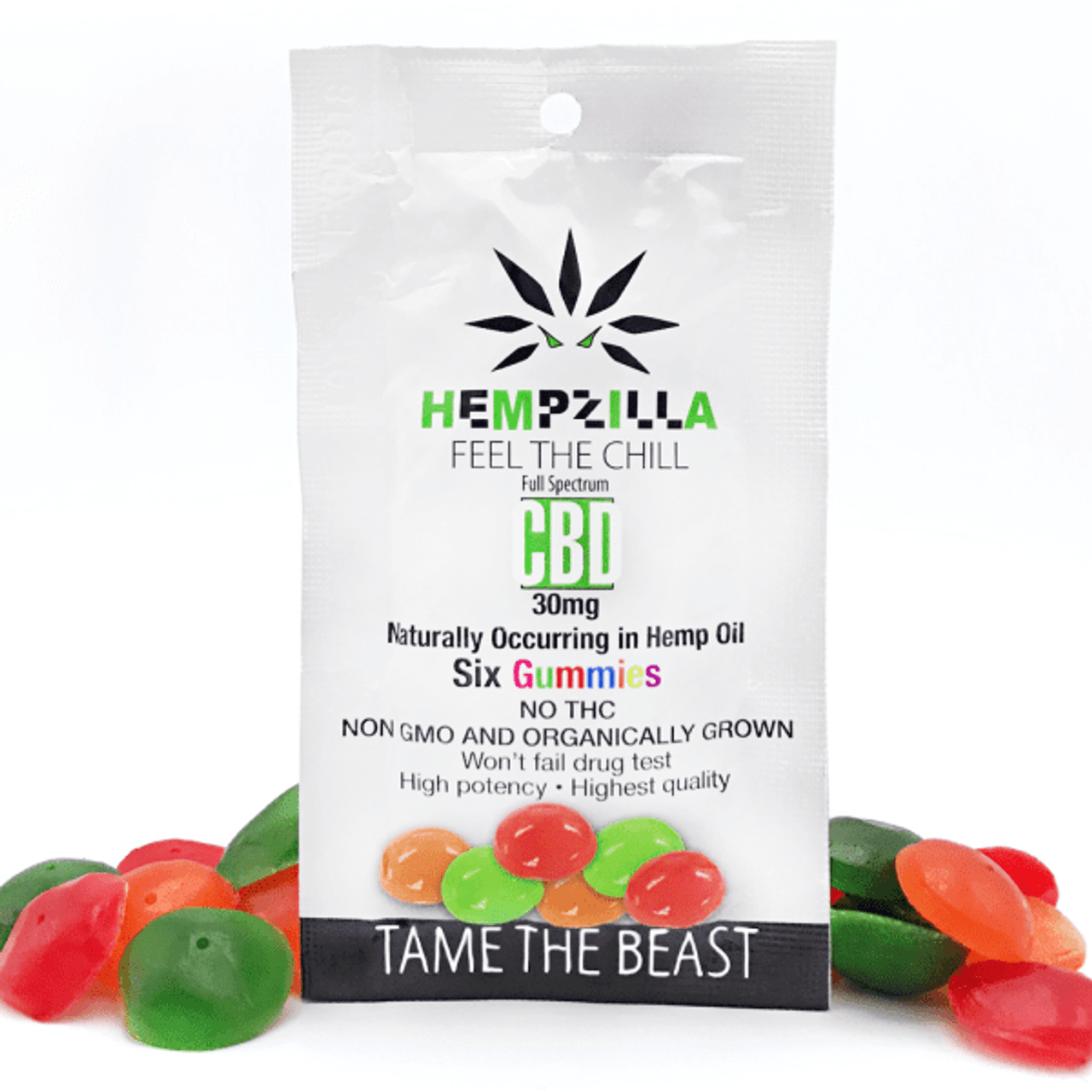 Hempzilla: CBD Gummies 6-Pack (30mg)