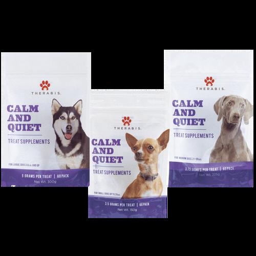 Therbais: Medium Dog Calm & Quiet CBD Hemp Soft Chew Treats (240mg)