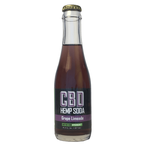 Cannabinoid Creations: Grape Limeade CBD Hemp Soda (25mg) Case of 24