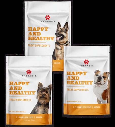 Therabis: Medium Dog Happy & Healthy CBD Hemp Soft Chew Treats (300mg)