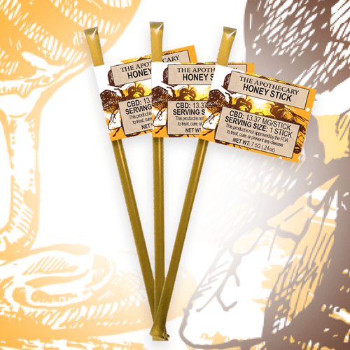 The Brothers Apothecary: CBD Honey Sticks 3-Pack (14mg)