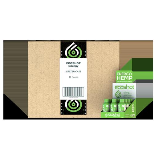 Eco Sciences: ECOShot Power CBD Hemp Energy Shot (25mg) Master Case