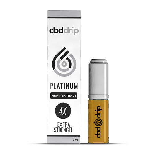 CBD Drip: CBD Platinum Vape Additive (58+ mg) Display Box of 12