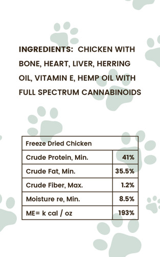 Pharma Hemp Complex: CBD Freeze-Dried Chicken Treats (50mg)