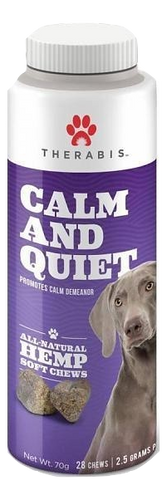 Therbais: Calm & Quiet CBD Hemp Dog Soft Chew Treats (168 mg)