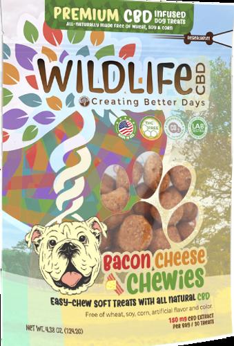 Wildlife Hemp: Bacon Cheese Chewies Organic Nano-CBD Dog Treats (150mg)