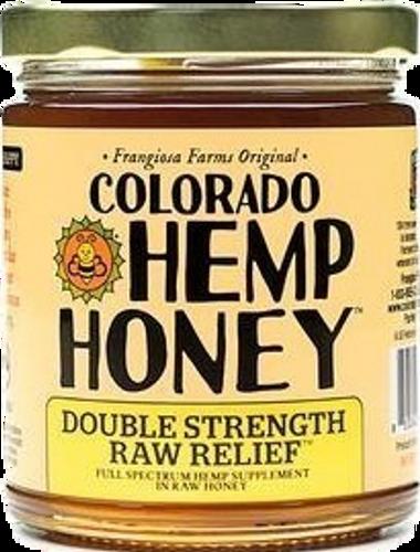 Colorado Hemp Honey: Double Strength Raw Relief CBD Honey 12oz Jar (2000mg)  Case of 12