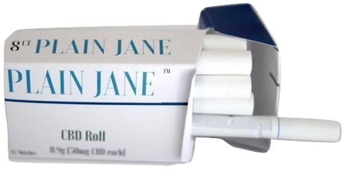 Plain Jane: Hemp PreRolls Joints 8-Count Carton (576mg)
