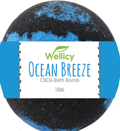 Wellicy: Ocean Breeze CBDa Bath Bomb (50mg)