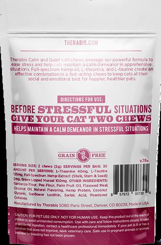 Therabis: Calm & Quiet CBD Hemp Cat Soft Chew Treats (120mg)