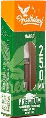 Free The Leaf: Mango CBD Vape Cartridge (250mg) Display Box of 9