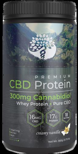 Creating Better Days: Active CBD Chocolate Whey Protein Powder (300mg)