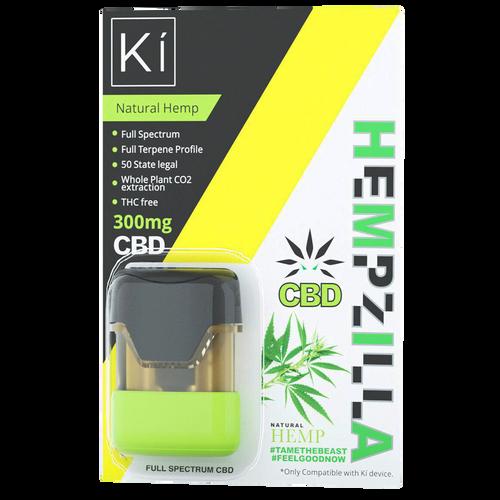 Hempzilla: Natural Hemp CBD Ki Vape Pod (300mg)