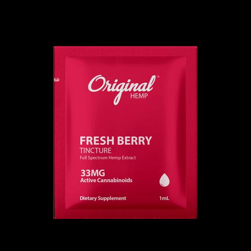 Original Hemp: Daily Dose Full Spectrum Fresh Berry CBD Tincture (33mg)