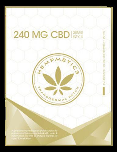 Hempmetics: CBD Transdermal Patches (240mg)