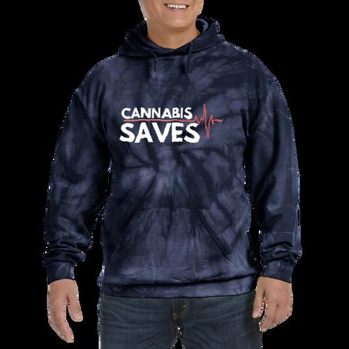 Cannabis Saves Hooded Hemp Sweatshirt - Dark Dye