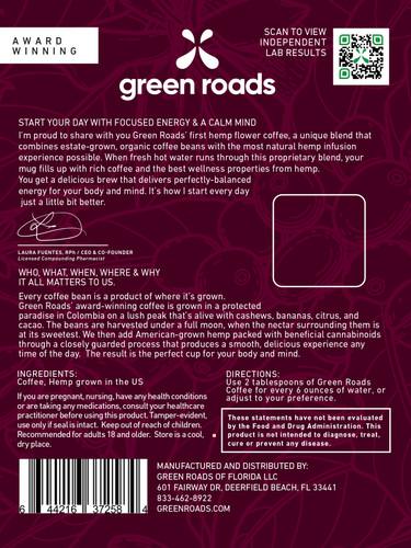 Green Roads: Founders Brew CBD Coffee (12oz)