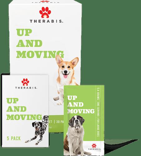 Therabis: Up & Moving Medium Dog CBD Hemp Supplements (150mg)