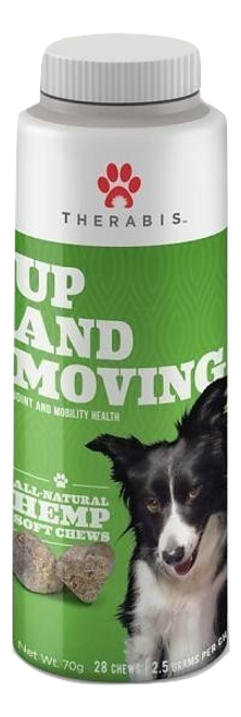 Therabis: Up & Moving CBD Hemp Dog Soft Chew Treats (84mg)