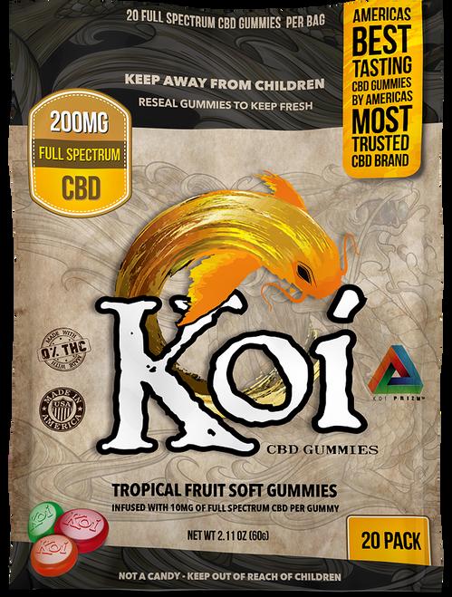 Koi CBD: Sour Tropical Fruit CBD Gummies (60mg) - Natural Healthy CBD