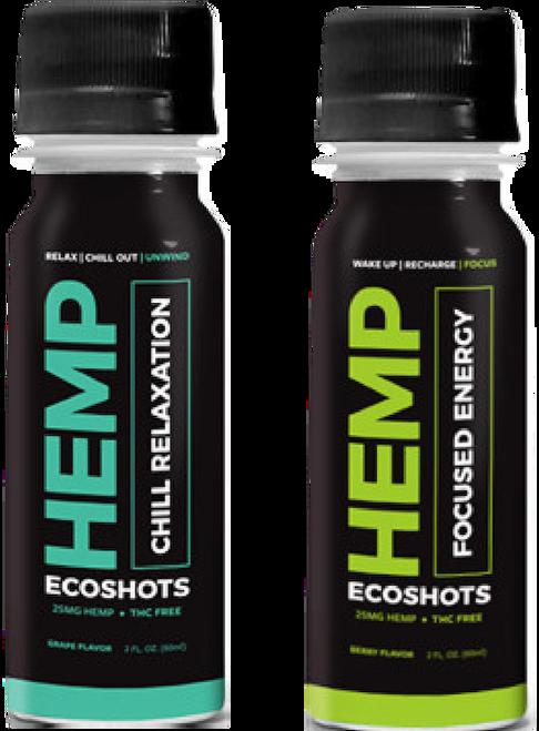 Eco Sciences: ECHOShot Focus Energy & Chill Relax CBD Shot Duo (25mg)