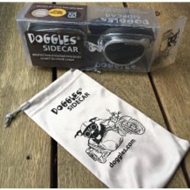 Doggles Sidecar Silver Frame/Smoke Lens
