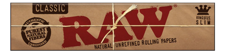 RAW:  Natural Classic King Size Slim Hemp Rolling Papers Display Box