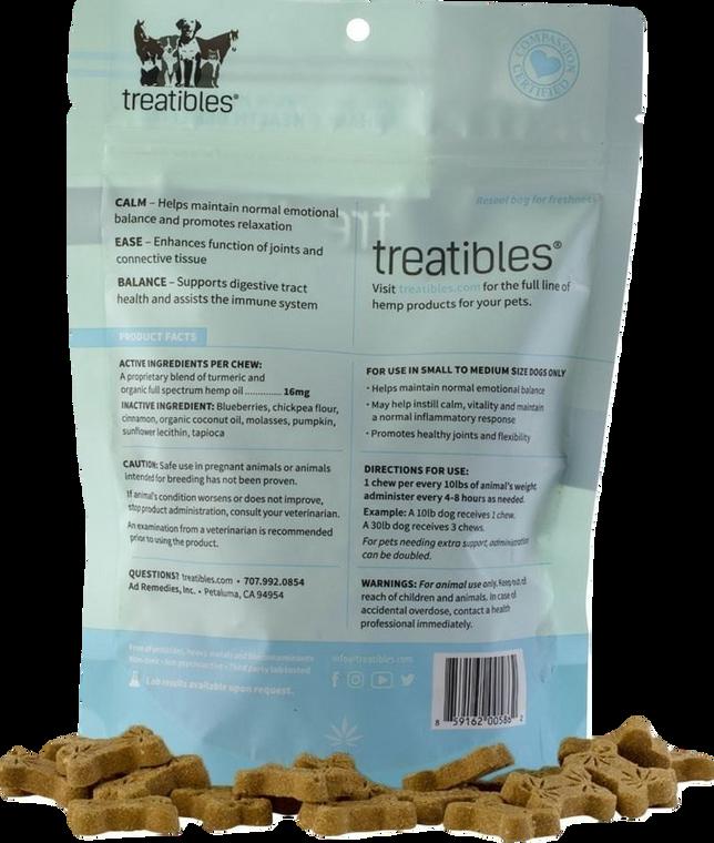 Treatibles: Grain Free Small Blueberry CBD Dog Chews (14mg)