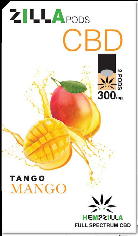 Hempzilla: Tango Mango CBD Zilla Vape Pods (300mg)