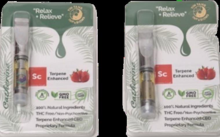 Yin Yang Infusions: Strawberry Cough CBD + CBG Terpene Vape Cartridge (250mg)