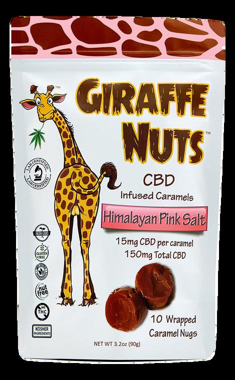 Giraffe Nuts: Himalayan Pink Salt CBD Caramels (150mg)