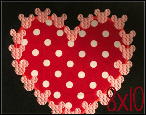 Free heart with mr mouse hearts applique embroidery design