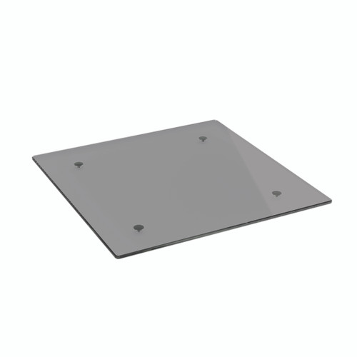 Grey Glass Square Table Top