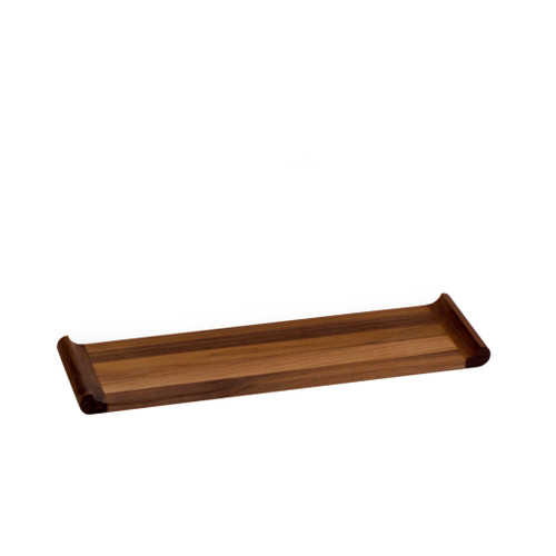 Long Walnut Canape Plinth