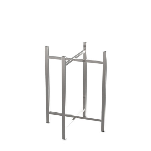 Medium Stainless Steel Table Leg