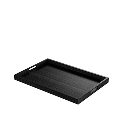 Black Rectangular Modern Tray