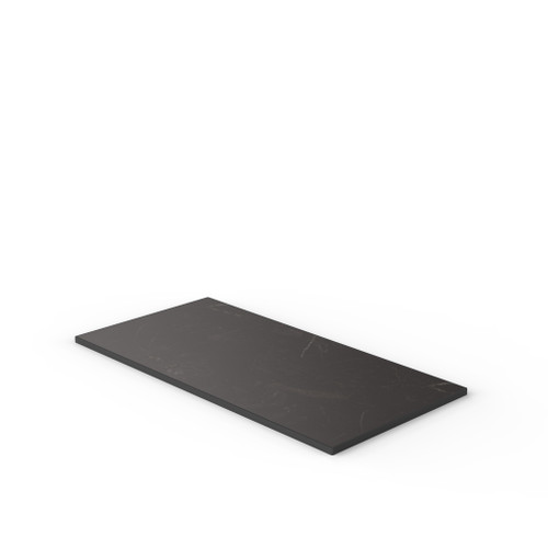 Black Marble Reef Edge Rectangle Table Top