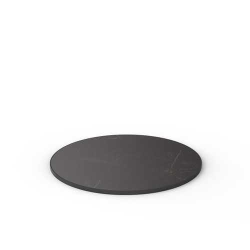 Black Marble Reef Edge Round Table Top