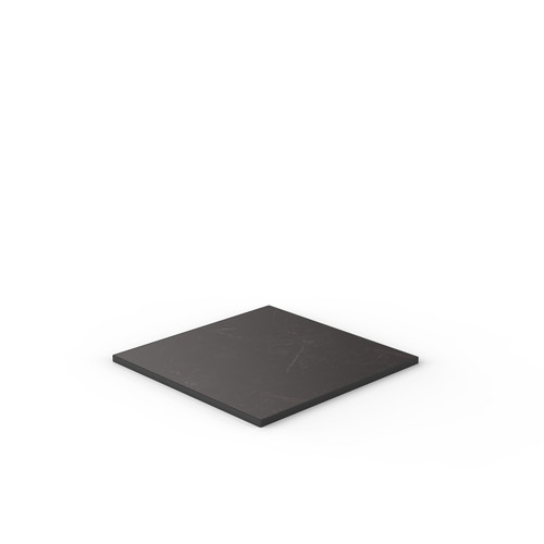 Black Marble Reef Edge Square Table Top