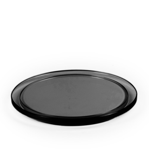 Round Black Glass Plinth