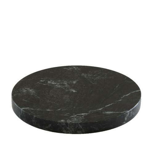 Round Grey Marble Plinth