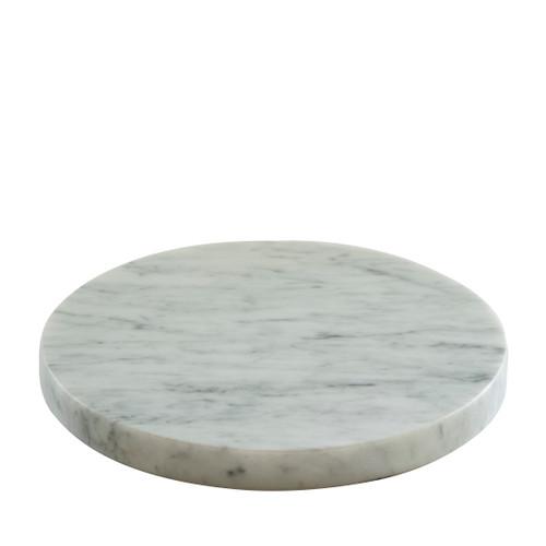 Round White Marble Plinth
