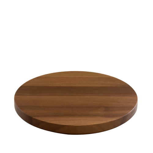 Round Walnut Plinth