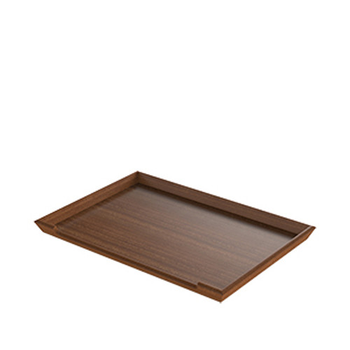 Mahogany Self-Service Tray