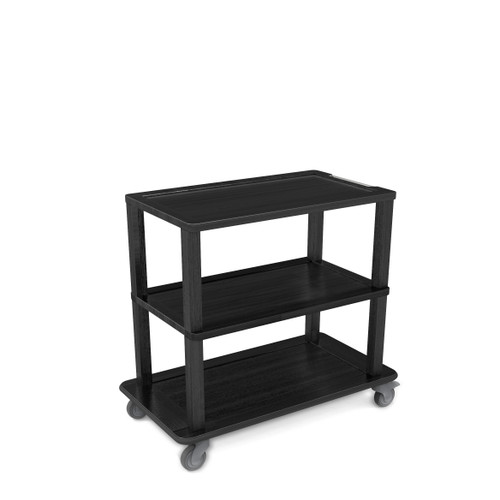 Black Service Tray Trolley